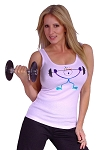 315 Wht Tank Top  With Happy Fit Design