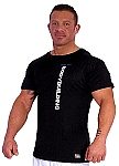 310s Black Muscle Top with bodybuilding graphics on front and back