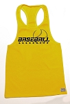312R  Yellow Tank Top with Black Baseball Graphic