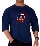 Style 4443/4 Sleeve Relaxed Fit Navy Top With Versa American Muscle Man