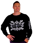 Style 444ft Black Sweat Shirt With Eagle Tribal