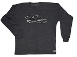 Style 444FT Charcoal Sweat Shirt With Versa Liquid Silver Crazeewear Logo  Long Sleeve