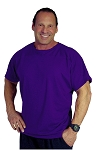 Style 444S Purple Short Sleeve Relaxed Fit Shirt