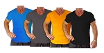 New Style 670V Aqua Blue,Charcoal, Black And Orange summer cool, light , Fitted V-Neck