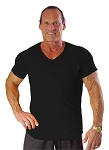 New Style 680V Black, summer cool, light , Relaxed Fit V-Neck