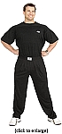 Style 500 Classic Solid Black Baggy Pants For Men And Women