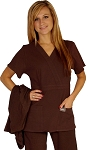 WFT Women's Fitted Brown Top