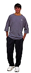 Style 500 Classic Solid  Charcoal Gray Baggy Pants