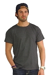 Custom Tee/Charcoal Grey Relaxed Fit Muscle Tee