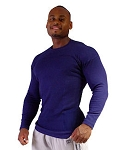 Style 400RL Navy Stretch Rib Tapered to Waist Malibu Top
