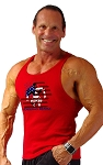312R Red Tank Tops With Versa American Muscle Design