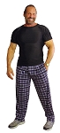 Style 500 Classic Black Plaid  Baggy Pants (Just Arrived)