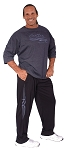 Style 500R Classic Black Corduroy Winter Warm Baggy Pants With Grey Tribal Graphic