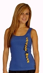 315 Blue Tank With Black Tribal/Yellow CrazeewearTop