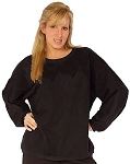 Style 700 Classic French Terry Black Sweat Shirt