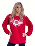 Style 444FT Red Sweat With White Wings Long Sleeve Sweat Shirt