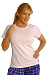 Style 380 Womens Solid White Top