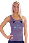 315 Grey Tank Top  With Happy Fit Design