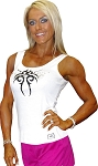 315 Wht Tank Top With Gold Sparkle Heart Clearance