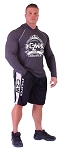 Style 600MS Micro blend black/White training shorts With CZW Athletics