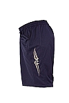 Style 600MS Micro blend navy blue training shorts W/tribal