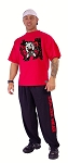 Style 444S Red short sleeve Top with versa Goliath Design