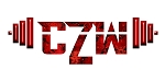 Crazee Wear Design Stickers (Decals)Versa Red CZW Barbell