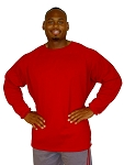 Style 444FT Red French Terry Warm And Soft Sweat Shirt Top  Men