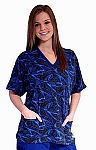 Style WST890 Womens Blue River V-Neck Top