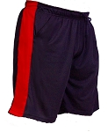 Style 600MS Micro blend black/Red training shorts