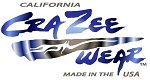 Crazee Wear Design Stickers (Decals)Versa Crazee Wear Blue Logo