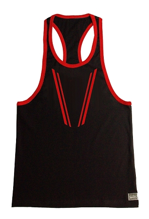 Crazee Wear 312RC Black Stretch Fitted Tank With Victory Taper Design