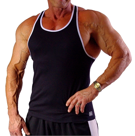 312RC  Black Tank Top With White Trim