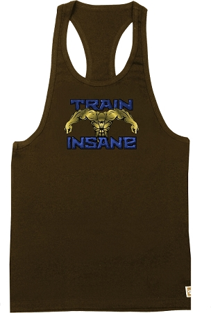 312 Brown Tank Top with Versa Train Insane