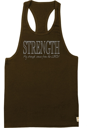 312 Brown Tank Top with Strength Design