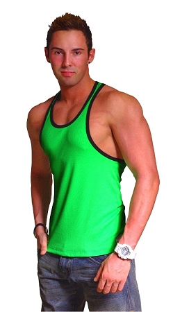 312R  Neon Green With Black Trim Tank Top