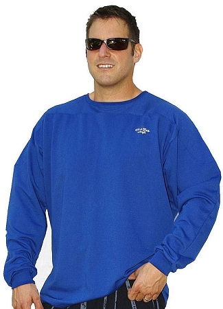 Style 444FT Blue Sweat Shirt  Top W/small crazeewear logo