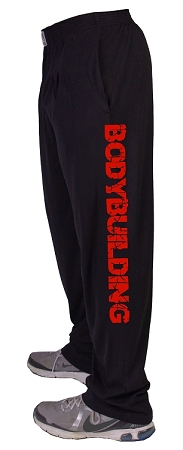Style 500 Classic Black w/Bodybuilding In Red Down Baggy Pants