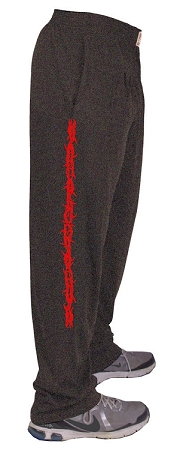 Style 500 Classic Charcoal W/Barbwire in Red Down Side Of Pants
