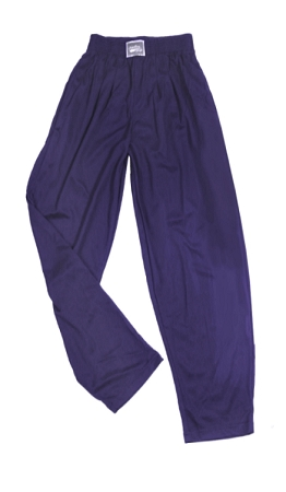 Style 500M Solid Navy Blue Microfiber Relaxed Fit Baggy Pants