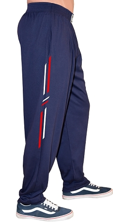 Style 500 Classic Navy With Red/Grey  Symmetry Designed Relaxed Fit Soft Baggy Pants For Men And Women