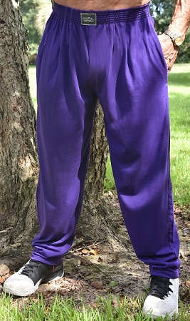 Style 500 Classic Solid Purple Relaxed Fit Soft Baggy Pants For Men And Women
