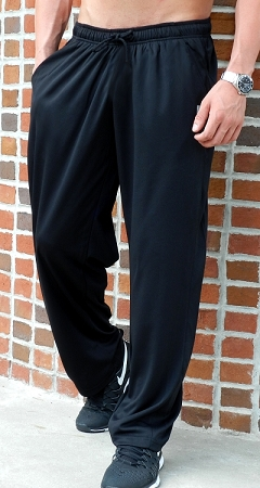 600MP Relaxed Fit Black Micro Fiber Pants For Men And Women