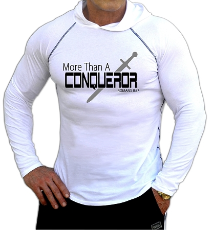 Fitted T-Shirt Pacific Hoodie In White For Men And Women Conqueror Design