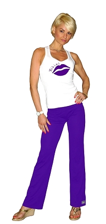 Style 200M Purple Figure Pants (Stretchy Cool Micro Fiber) 2