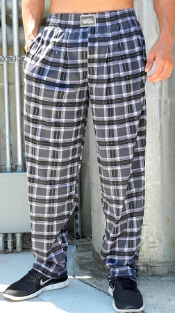 Style 500 Classic Black Plaid Relaxed Fit Baggy Pants