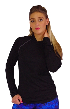 Fitted T-Shirt Pacific Hoodie ( Black)  For Men And Women