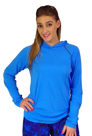 Fitted T-Shirt Pacific Hoodie ( Aqua Blue)  For Men And Women