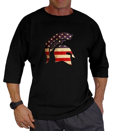 Style 444 3/4 Black Relaxed Fit With Flag Helmet