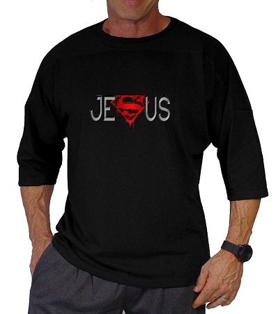 Style 444 3/4 Black Relaxed Fit With Red Super Jesus